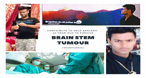 BRAIN STEM TUMOUR: To Help a Youth of My Age to Survive This Battle (For Ashlesh)