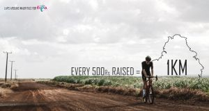 Riding for TIPA, a long ride for the children.
